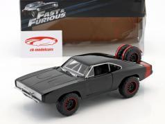 道奇Charger R/T Offroad 1970年 电影:速度与激情7 黑色 1:24 Jada Toys