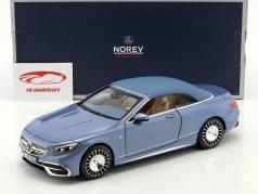 Mercedes-Benz Maybach S650 cabriolet avec softtop année de construction 2018 bleu métallique 1:18 Norev