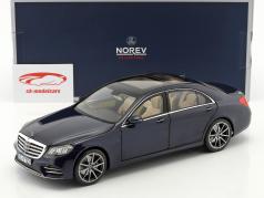 Mercedes-Benz S-Class AMG-Line Opførselsår 2018 mørkeblå metallisk 1:18 Norev
