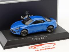Alpine A110 Legende ano de construção 2018 alpine azul 1:43 Norev