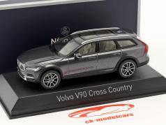 Volvo V90 Cross Country ano de construção 2017 savile cinza 1:43 Norev
