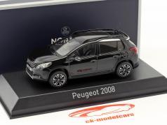 Peugeot 2008 GT Line anno di costruzione 2016 perla nera nero 1:43 Norev