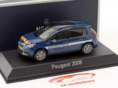 Peugeot 2008 anno di costruzione 2016 Gendarmerie blu 1:43 Norev