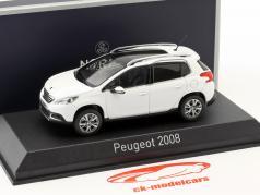 Peugeot 2008 ano de construção 2013 branco 1:43 Norev