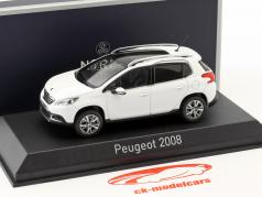 Peugeot 2008 year 2013 white 1:43 Norev