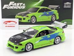 Brian's Mitsubishi Eclipse anno di costruzione 1995 film Fast and Furious (2001) verde 1:18 Greenlight