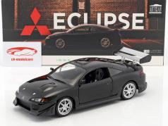 Mitsubishi Eclipse year 1995 black 1:18 Greenlight