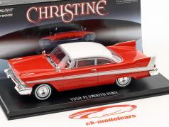 Plymouth Fury Bouwjaar 1958 film Christine (1983) rood / wit / zilver 1:43 Greenlight