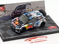 Volkswagen VW Polo R WRC #1 winnaar Rallye Monte Carlo 2016 Ogier, Ingrassia 1:43 Altaya