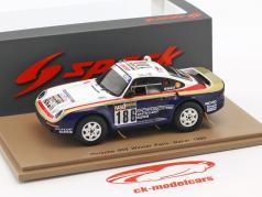 Porsche 959 #186 gagnant Rallye Dakar 1986 Metge, Lemoyne 1:43 Spark