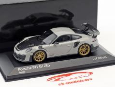 Porsche 911 (991.2) GT2 RS ano de construção 2018 giz cinza 1:43 Minichamps