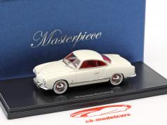 Volkswagen VW Karmann Ghia prototype year 1954 white 1:43 AutoCult