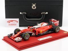 S. Vettel Ferrari SF16-H #5 tercero Australia GP F1 2016 con escaparate y Caja de cuero 1:18 BBR