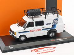 Ford Transit MKII ano de construção 1979 Rallye Assistance David Jones branco 1:43 Ixo