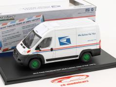 Ram ProMaster 2500 Cargo USPS van year 2018 white / green 1:43 Greenlight