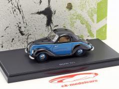 BMW 531 Bouwjaar 1951 zwart / blauw 1:43 AutoCult