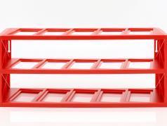 Kunststoff Vitrine für bis zu 15 Ferrari F1 Modelle im Maßstab 1:43 rot Atlas