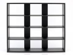 Hochwertige Wandvitrine / Vitrine aus Holz für Modellautos dunkelbraun 60 x 50 x 14,5 cm Atlas