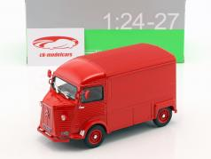 Citroen Type H année de construction 1962 rouge 1:24 Welly