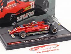 Gilles Villeneuve Ferrari 126C2 #27 USA GP Long Beach formule 1 1982 1:43 Brumm