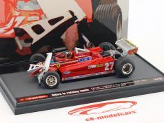 Gilles Villeneuve Ferrari126CK #27 tercero Kanda GP fórmula 1 1981 1:43 Brumm