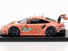 Porsche 911 RSR #92 Class Winner LMGTE Pink Pig 24h LeMans 2018 1:43 Spark