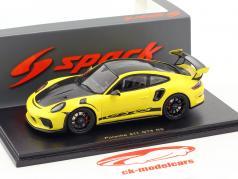 Porsche 911 (991 II) GT3 RS Weissach Package 2018 gul / sort 1:43 Spark