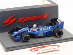 Rene Arnoux Ligier JS31 #25 Monaco GP formule 1 1988 1:43 Spark