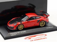 Porsche 911 (991 II) GT2 RS anno di costruzione 2018 guardie rosso 1:43 Minichamps