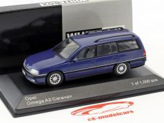 Opel Omega A2 Caravan Bouwjaar 1990-1993 blauw metalen 1:43 WhiteBox