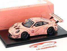 Porsche 911 GT3 R Pink Pig #991 porcelæn GT Championship Shanghai 2018 1:43 Spark