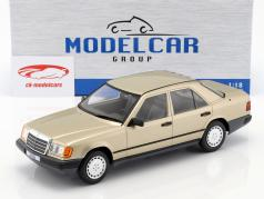 Mercedes-Benz 260 E (W124) Bouwjaar 1984 goud metalen 1:18 Model Car Group