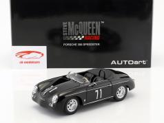 Steve McQueen Porsche 356A Speedster #71 noir 1:18 AUTOart