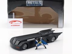 Animated バットモービル とともに バットマン フィギュア マットブラック 1:24 Jada Toys