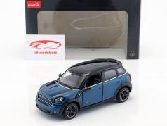 Mini Cooper S Countryman (R60) blauw metalen / zwart 1:24 Rastar