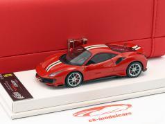 Ferrari 488 Pista anno di costruzione 2018 Geneva Motorshow 2018 corsa rosso metallico 1:43 BBR