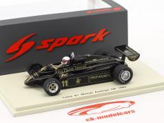 Elio de Angelis Lotus 91 #11 Winner Austria GP formula 1 1982 1:43 Spark