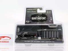 Ram 2500 2016 mit Display Trailer TV-Show Graveyard Carz (seit 2012) schwarz 1:64 Greenlight