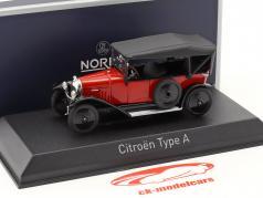 Citroen Type A ano de construção 1919 vermelho / preto 1:43 Norev