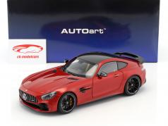 Mercedes-Benz AMG GT R year 2017 designo cardinal red metallic 1:18 AUTOart