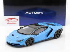 Lamborghini Centenario LP770-4 année de construction 2017 Céphée bleu métallique 1:18 AUTOart