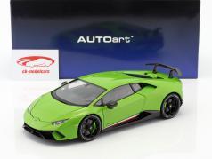 Lamborghini Huracan Performante año de construcción 2017 mantis verde 1:18 AUTOart