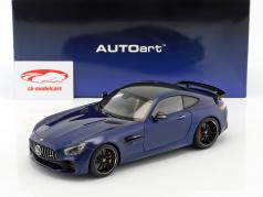 Mercedes-Benz AMG GT R año de construcción 2017 brillante azul metálico 1:18 AUTOart