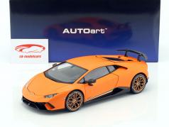 Lamborghini Huracan Performante 築 2017 anthaeus オレンジ 1:18 AUTOart