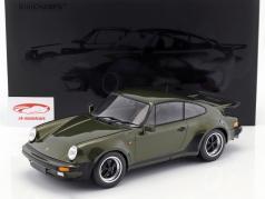 Porsche 911 (930) Turbo ano de construção 1977 oliva verde 1:12 Minichamps