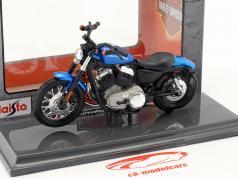 Harley-Davidson XL 1200N Nightster año de construcción 2012 azul 1:18 Maisto