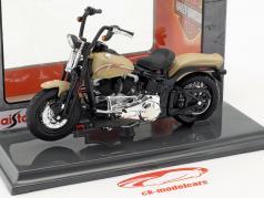 Harley-Davidson FLSTSB Cross Bones año de construcción 2008 beige 1:18 Maisto