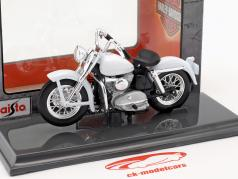 Harley-Davidson K Model Bouwjaar 1952 wit 1:18 Maisto