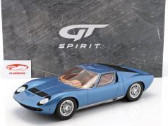 Lamborghini Miura P400S Baujahr 1969 Tahiti blau 1:12 GT-Spirit