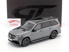 Mercedes-Benz AMG GLS 63 année de construction 2016 selenite gris 1:18 GT-Spirit